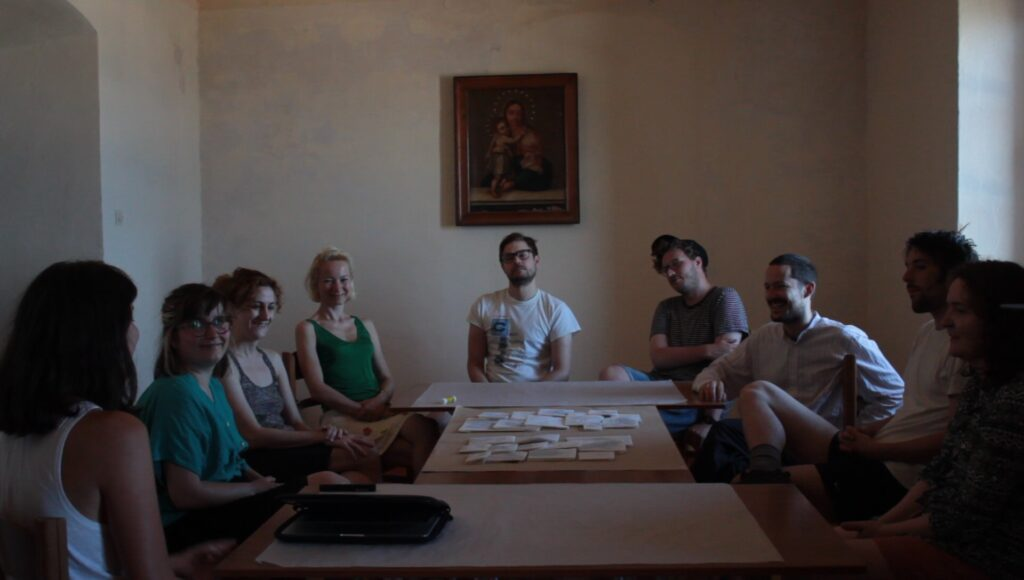 Workshop at the Old Jesuit Monastery | Introducing the catalogue (screenshot), Ano Syros (2019)
