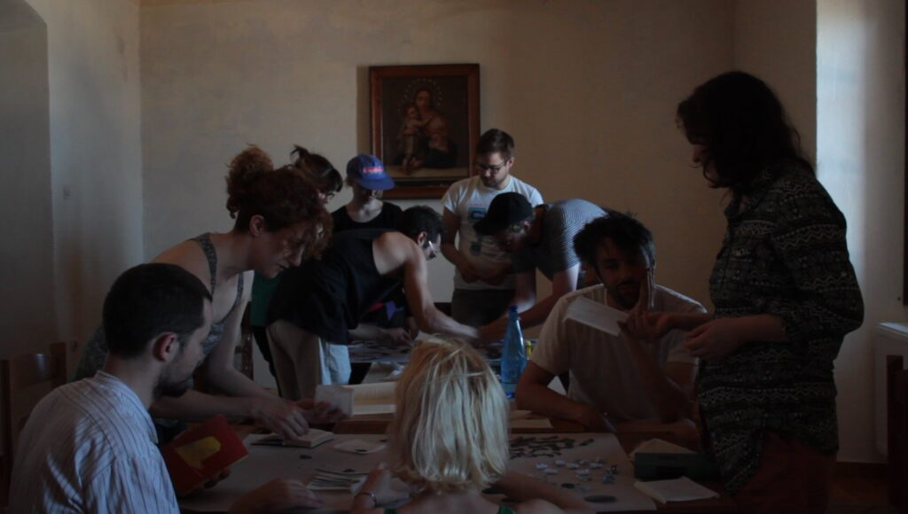 Workshop at the Old Jesuit Monastery | Composing scores (screenshot), Ano Syros (2019)