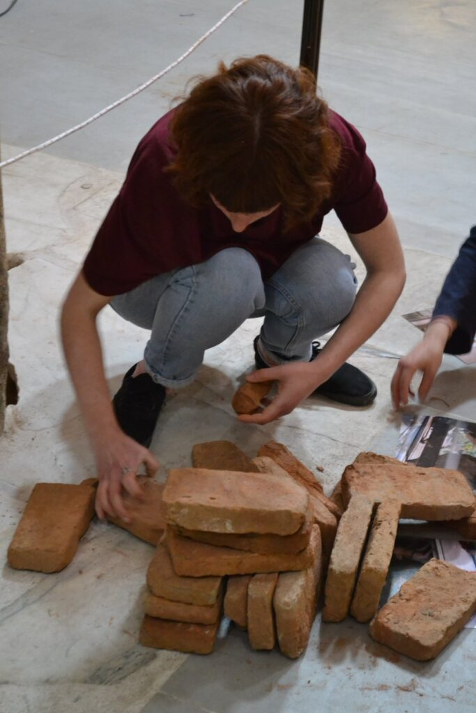 Composing collective souvenirs, third day of the workshop, Byzantine Bath, Thessaloniki (2019)