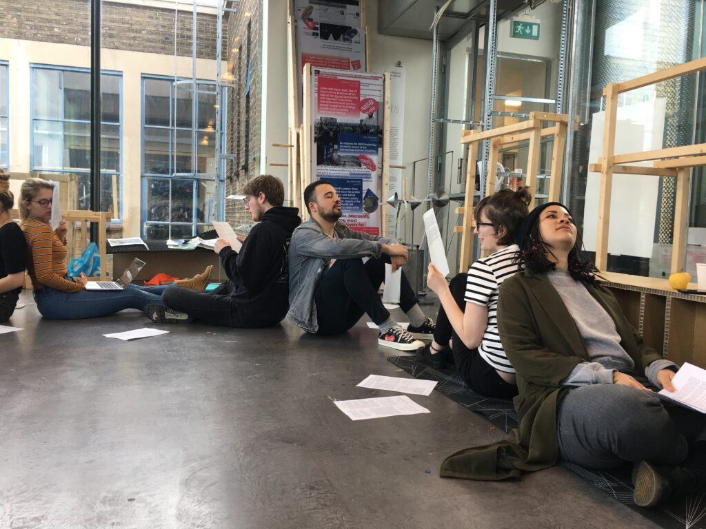 a small listening gesture with students at KABK, The Hague (2018)